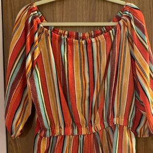 🌺Toxik3 Striped Romper Size 1X🌺